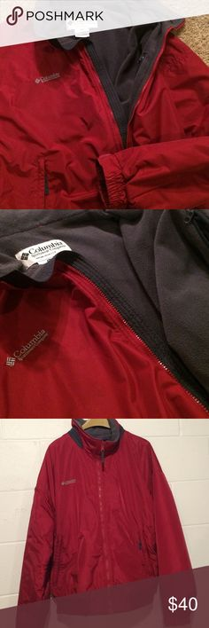 Columbia Men's Winter Coat! Excellent condition! In excellent, like new condition! This is a super nice coat from Columbia! Hard to find a good XXL coat and this one fits great! Keeps you warm and stylish! Beautiful Red color with gray fleece liner. Very warm, durable, and waterproof! Columbia logo stitched on chest. 2 zipper pockets in front. Columbia Jackets & Coats