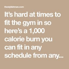 It's hard at times to fit the gym in so here's a 1,000 calorie burn you can fit in any schedule from anywhere. We have two options when it comes to cardio. We just need to know which on…