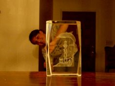 Big glass scuptures? Or little people?