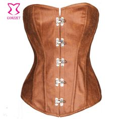 b73dc5041 Corzzet Leather Steampunk Plus Size Steel Boned Waist slimming Corsets and Bustiers  Burlesque Clothing Corsetto Sexy Korset
