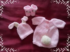 This bunny romper knitting pattern is really cute and designed by me. You will need: Knitting Needles wool (approx) 2 Buttons Embellishments if required for decoration This is a digital file! Sweater Set, Reborn Babies, Knitting Needles, Embellishments, Craft Supplies, Knitting Patterns, Bunny, Rompers, Wool