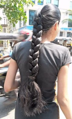 Picssr: indian braided hair's most interesting photos. I wish my hair was like this. Beautiful Braids, Beautiful Long Hair, Gorgeous Hair, Super Long Hair, Big Hair, Pretty Hairstyles, Braided Hairstyles, Natural Hair Styles, Long Hair Styles