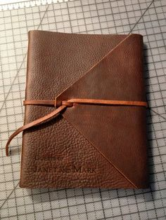 Hand Bound Leather Book (large)