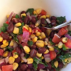 "Black Bean and White Corn Salad I ""A favorite of our family. Excellent to accompany a Mexican-themed meal."""