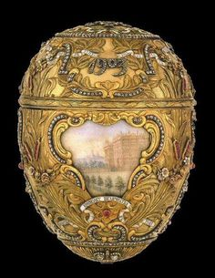 Peter Carl Fabergé. Peter the Great Easter egg (1903).