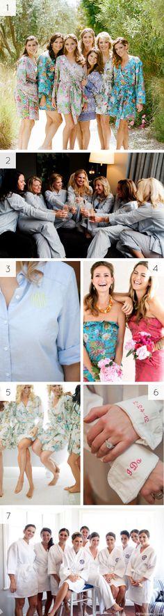 Pre-wedding day attire - #bridesmaids #bridal #robes #gifts