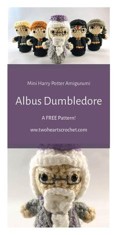 Crochet Albus Dumbledore Doll Harry Potter Mini Amigurumi