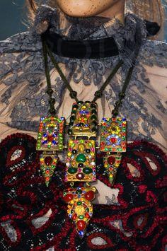 Close-up Vivienne Westwood prêt-à-porter printemps-été 2014, Paris. #PFW #fashionweek #closeup I don't know any woman in her right mind that would wear this.