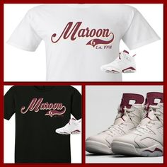 07d451048e0a Cop Em Customs Exclusive Tee Shirt To Match The Nike Air Jordan 6 Maroon s!