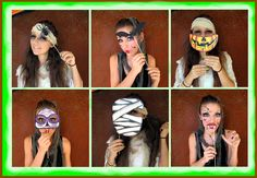 """Last, but not least the creepy Halloween photo booth props, our third set. It is a little """"nicer"""" or less frightening than the scary set, but still perfect for Halloween. Available in our etsy stor..."""