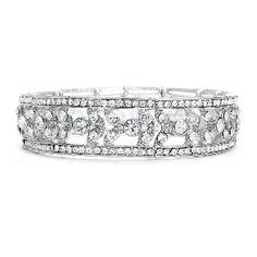 Etched Crystal Vintage Stretch Bracelet