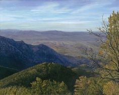 $995.00 Mt. Rison Arizona Original Acrylic Landscape Painting by Sean Koziel at TwoEasels. Do you travel or hike up mountains? if you don't, then this painting will inspire you to do so. A Word from the artist: While hiking in Arizona, I snapped a photo for reference about 500 feet from the Summit on Mt. Rison, just North of Mexico. The view from the top of the mountain was incredible and I tried to capture that feeling of being there.