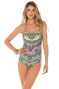 Becca by Rebecca Virtue's Chandelier Bandeau Tankini Top | Everything But Water