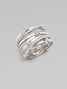 Marco Bicego 18K White Gold & Diamond Ring - right hand ring