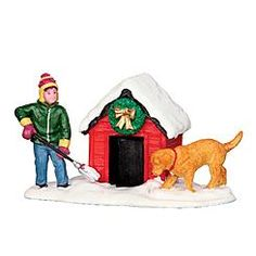 Coventry Cove by Lemax Christmas Village Figurine, Digging Out The Doghouse