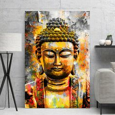 Buddha Wall Art, Buddha Painting, Oil Painting Abstract, Art Painting Tools, Canvas Painting Tutorials, Yoga Kunst, Buddha Kunst, Lord Ganesha Paintings, Art Watercolor