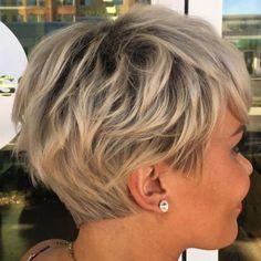60 Short Shag Hairstyles That You Simply Can't Miss Layered Ash Blonde Pixie Choppy Pixie Cut, Edgy Pixie Cuts, Pixie Bob, Asymmetrical Pixie, Best Pixie Cuts, Edgy Pixie Hair, Short Shag Hairstyles, Pixie Haircuts, Winter Hairstyles
