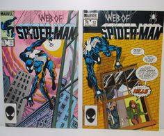 1980's Web of Spider-Man #11 & 12 Comic Book Issues VF NM