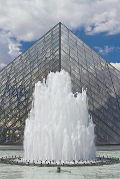 Fountain of the Louvre Pyramid, Paris Louvre Pyramid, Paris Landmarks, Fountain, France, Water Fountains, French
