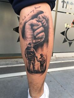Father Son Tattoo, Father Tattoos, Tattoo For Son, Tattoos For Daughters, Wolf Tattoo Sleeve, Forearm Sleeve Tattoos, Best Sleeve Tattoos, Tattoo Sleeve Designs, Daddy Tattoos