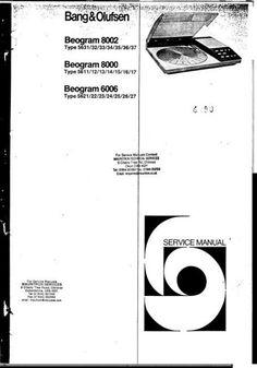 Bang & Olufsen Service Manuals