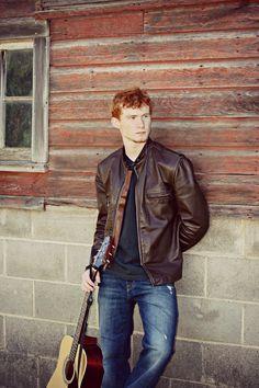 Senior picture in front of Grandpa's barn.