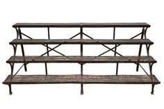 A rare Arras wrought iron four shelf plant stand.1 500x334 The Best Looking Rustic Outdoor Painted Furniture