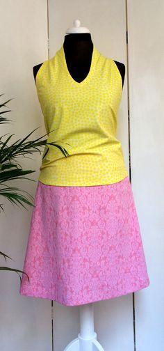 Mode aus München, handmade fashion. Gute Laune GelbSommerKleiderWerkstattstudio a579baf4ea