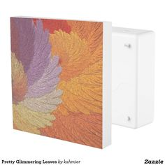 Pretty Glimmering Leaves Outlet Cover