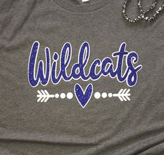 Mascot School Spirit Glitter Shirt The perfect shirt for showing your school or team spirit! The super sparkly glitter is sure to catch everyones eye! It is great for sports moms, fans and its even great for teachers to wear on Spirit Days! Completely Customizable -- Change the