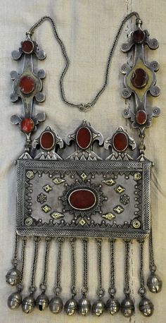 Kazakhstan | Silver, silver gilt and cornelian stones | 19th century | Price on request