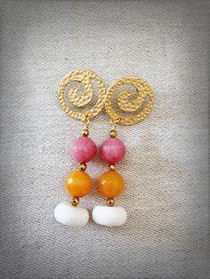 Un preferito personale dal mio negozio Etsy https://www.etsy.com/it/listing/520986334/orecchini-con-pietre-colorate-orecchini
