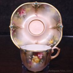 Painted Cups, Hand Painted, Coffee Cups, Tea Cups, Pink Cups, China Cups And Saucers, Worcester, Hadley, Fine Dining