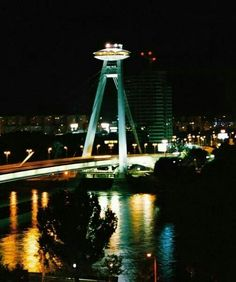 Bratislava nový most Bratislava, Building, Travel, Viajes, Buildings, Destinations, Traveling, Trips, Construction