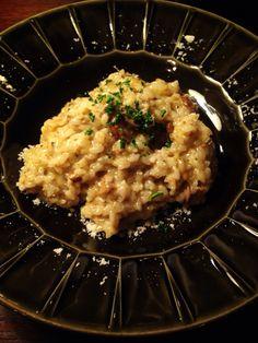 Bistro cosicosi❤︎ Today's Dinner❤︎ date❤︎2015.2  ⋈広島産牡蠣とマッシュルームの    クリームリゾット( ˭̵̵̵̵͈́◡ु͂˭̵̵̵͈̀ ❤︎) ⋈ヴィネグレットソースのサラダ ⋈モルダデッラとリコッタチーズのコルネッリ  ⋈天使の海老  #ビストロコジコジ