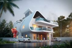 We are proving best quality of modern hospital architecture design & rendering services. Bungalow Haus Design, Duplex Design, Best Modern House Design, House Front Design, Hospital Architecture, Facade Architecture, Villa Design, Modern Hospital, Futuristic Home