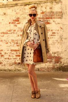 Retro dress + dressy oxfords