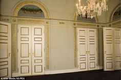 Inspired: The palace cost a total of £22m to renovate and was briefly opened to the Danish...
