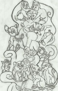A work in progress of my Disney Animals 1/2 sleeve... I'm not 100% sure I want a sleeve, might just go with the design on my upper left arm. If I do end up going with the sleeve idea I plan on doin...