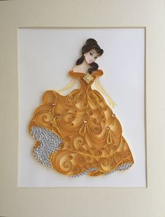 Quilled Princess Belle by Vera - - Quilling Paper Crafts Paper Quilling Cards, Paper Quilling Tutorial, Paper Quilling Flowers, Paper Quilling Patterns, Paper Quilling Jewelry, Origami And Quilling, Quilled Paper Art, Quilling Dolls, Quilling Craft