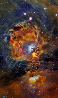 Orion Nebula in Oxygen, Hydrogen, and Sulfur Image