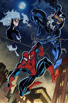 Spider Verse, Amazing Spiderman, Venom, Detailed Image, Comic Art, Deviantart, Superhero, Comics, Artwork