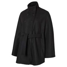 BuyMamalicious Siri Cape Maternity Coat, Black, S Online at johnlewis.com
