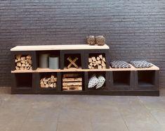 U-elementen kopen | Betondingen Nederland Outdoor Kitchen Design, Patio Design, Garden Design, Back Patio, Backyard Patio, Garden Rack, Dutch Gardens, Veggie Patch, Balcony Garden