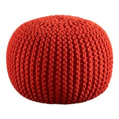 Home Ec Flunkee: How to Make a Knitted Pouf Ottoman