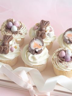 Six ideas for your easter baking love catherine 24 insanely cute easter cupcakes to make this year totally memorable Easter Cupcakes, Baking Cupcakes, Cupcake Recipes, Cupcake Cakes, Dessert Recipes, Gourmet Cupcakes, Easter Cup Cakes Ideas, Easter Baking Ideas, Flower Cupcakes