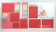 12x12 Scrapbook pages created with Falling Flowers stamp set and May Flowers…