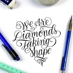 "We are #diamonds taking #shape. By @word_parlor. | Tag us and use ""#50words"" for a regram 