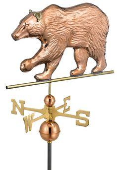 Copper bear weathervane // #SicEm