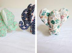 DIY Doudou Éléphant {avec patron} – Les Enchantées Stuffed Animals, Elephant Stuffed Animal, Stuffed Animal Patterns, Crafts To Make, Crafts For Kids, Diy Crafts, Baby Couture, Sewing Dolls, Plushies